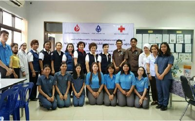 Von Bundit, Thai Red Cross jointly hold 6th blood donation event