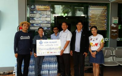 Von Bundit Udonthani sponsors drinking water to Fun-Run event