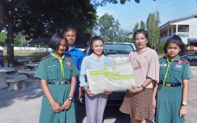 Von Bundit Co., Ltd. sponsored Natural Latax pillows as a gift on National Children's Day 2020 for Suksan Songkhro School, Surat Thani Province.