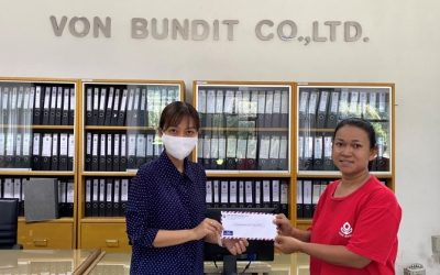 THAVEESAK KERDVONGBUNDIT FOUNDATION established a scholarship program to support employee's children education of Von Bundit Co., Ltd., Khun Talay Branch, Jul 4, 2020