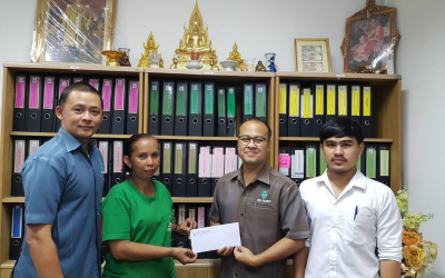 THAVEESAK KERDVONGBUNDIT FOUNDATION established a scholarship program to support employee's children education of Von Bundit Co., Ltd., Pritro Plus Branch Jul 4, 2020